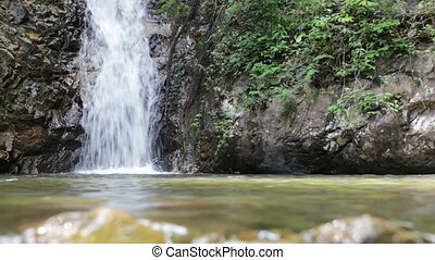 waterfall front water level - waterfall front from water...