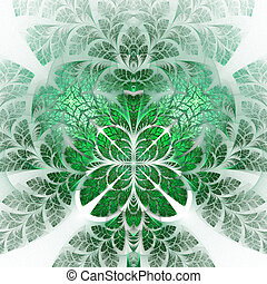 Fabulous fractal pattern in green. Collectiont - tree...
