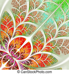 Multicolor fabulous fractal pattern. Collectiont - tree...