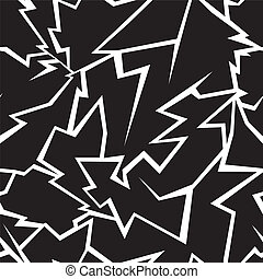 Lightning seamless pattern on a black background