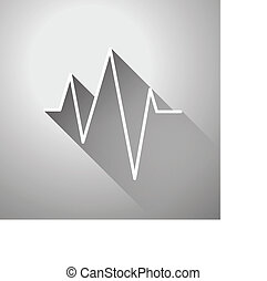 Vector sound wave icon - Vector sound wave flat icon