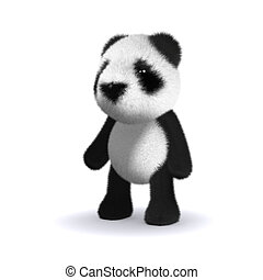 3d Baby panda bear - 3d render of a baby panda bear