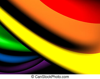 Flag of LGBT. Close Up.