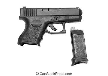 negro, arma de fuego, Revista