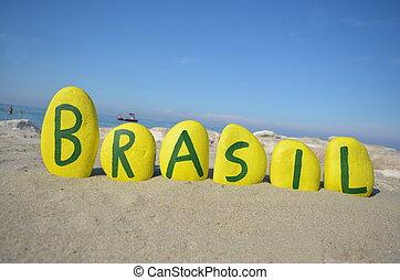 Brasil, souvenir on yellow stones - Yellow stones...