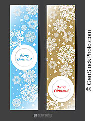 info graphic banner snowflakes