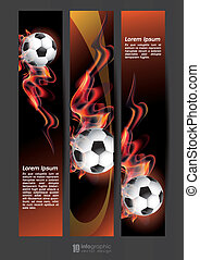 vector info graphic banner football