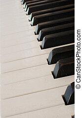 piano keyboard at angle