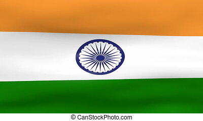 Waving India Flag