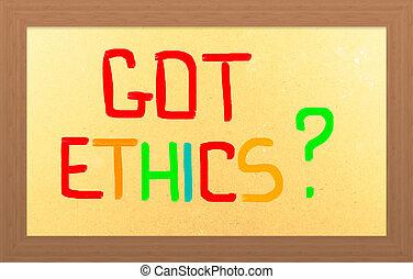 得られた, 倫理, 概念