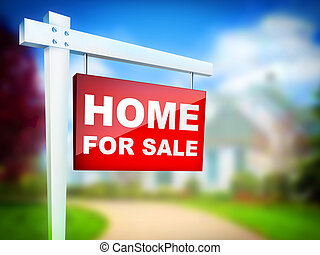 Home for Sale - Real Estate Tablet – Home For sale. 2D...