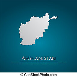 vector Afghanistan Map card paper