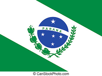 State flag of Parana in Brazil