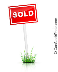 Sold - Computer Design. 2D Artwork. Real Estate Sign- Sold...