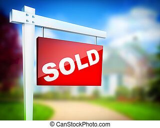 Sold - Computer Design 2D Artwork Real Estate Sign- Sold on...