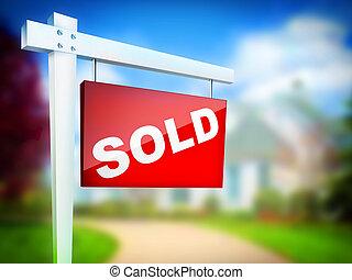 Sold - Computer Design. 2D Artwork. Real Estate Sign- Sold...