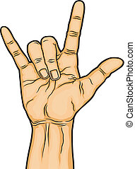 satanic sign - illustration of hand on satanic sign n in...