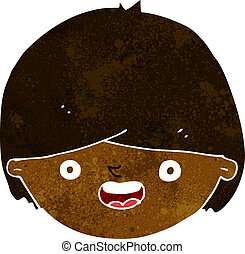 cartoon happy face
