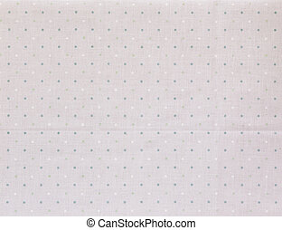 Fabric textile with dots pattern - White and green Tiny...