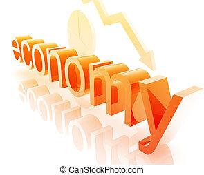 Finance economy worsening - Finance economy trend concept...