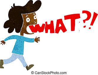 cartoon woman shouting what