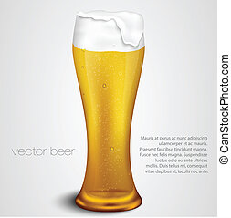 light beer with the foam