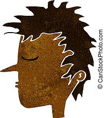 cartoon male face