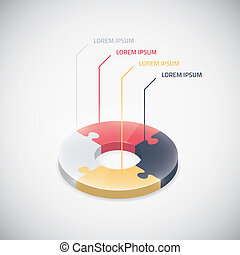 Infographic puzzle piece vector jigsaw business circle...