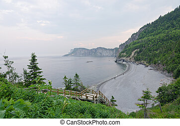 Gulf of St. Lawrence - Gray water of St. Lawrence gulf in...