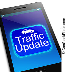 Traffic update concept - Illustration depicting a phone with...