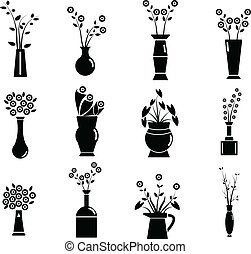 Set of Vase Vector Illustration