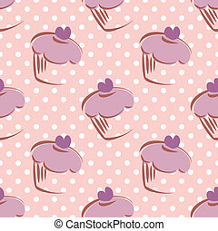 Tile vector cake dots pattern