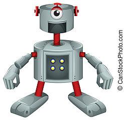 A grey robot