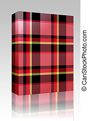 Tartan plaid texture box package