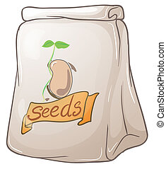 A pack of plant seeds - Illustration of a pack of plant...