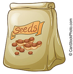 A pack of nut seeds - Illustration of a pack of nut seeds on...