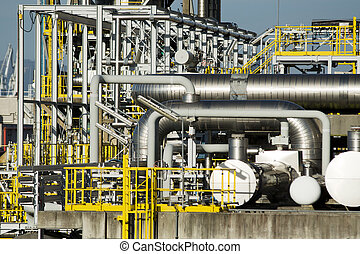 petrochemical plant - Ferrol, Spain - March 6th, 2014...