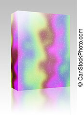Tie dye pattern box package - Software package box Tie dye...