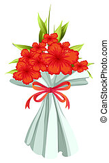A boquet of red flowers - Illustration of a boquet of red...