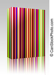 Multicolored streaks box package - Software package box...