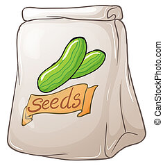 A pack of cucumber seeds - Illustration of a pack of...