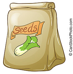 A pack of vegetable seeds - Illustration of a pack of...