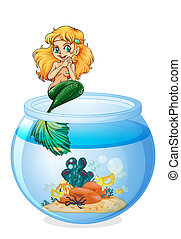 A jar with a mermaid
