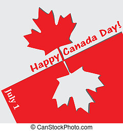 Happy Canada Day - Abstract applique Canada Day with the...