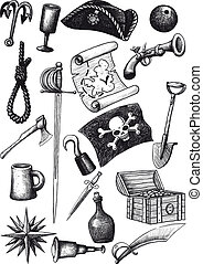 big Pirate Set - Big set of pirate attributes for fighting,...