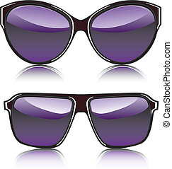 Fashion Glasses - fashion glasses illustration clip-art eps