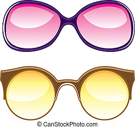 Lenses - lenses vector illustration clip-art eps