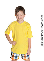 Little boy in the yellow shirt