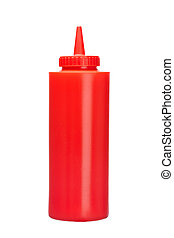 Ketchup bottle isolated on a white background