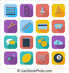 Color flat icons 6 - Color flat icons for Web Design and...